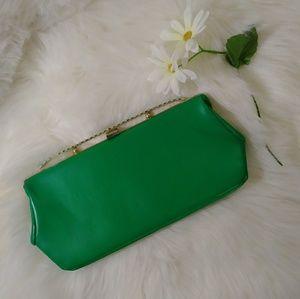 Vintage green clutch